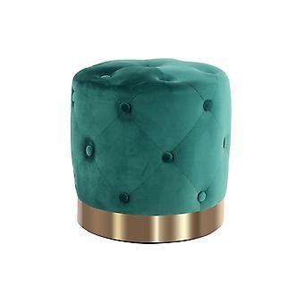 Ottoman - Modern - Green - Polyester - 40cm x 40cm x 40cm