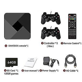 Hd Super x Konsole 51000 + Retro klassisches Spiel Mini TV Box Video Player Wireless Controller (64gb
