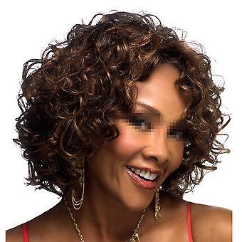 Negro Afrikanischen kurzen gewellten Haar Perücke Mütze