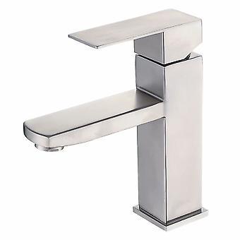 304 Robinet en acier inoxydable Salle de bain Robinet d'eau chaude et froide Salle de bain Robinet de lavabo Sous le robinet de l'évier (b)