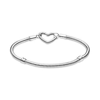 New Hot Sale Women's Jewelry Gift Bracelet Diy Designer Charm Fits Original Pandora 925 Sterling Silver Beaded Bracelet
