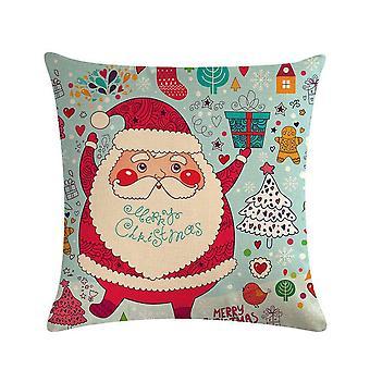 سانتا كلوز مع هدية عيد الميلاد وسادة