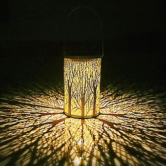 Solar Garden Lantern, Moroccan Tree Led Lamp Outdoor Lantern, Waterproof Ip44