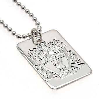 Liverpool Silver Plated Dog Tag & keten
