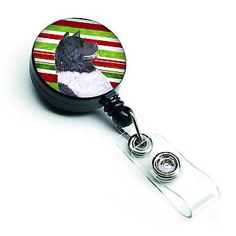 Akita Candy trzciny Wakacje Christmas chowany odznaka szpula