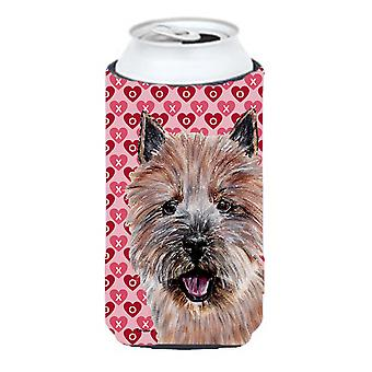 Norwich Terrier Hearts and Love Tall Boy Beverage Insulator Hugger
