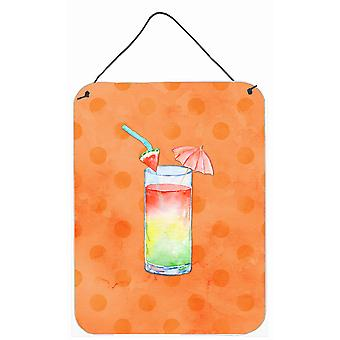 Umberella Cocktail Orange Polkadot mur ou une porte suspendue imprime