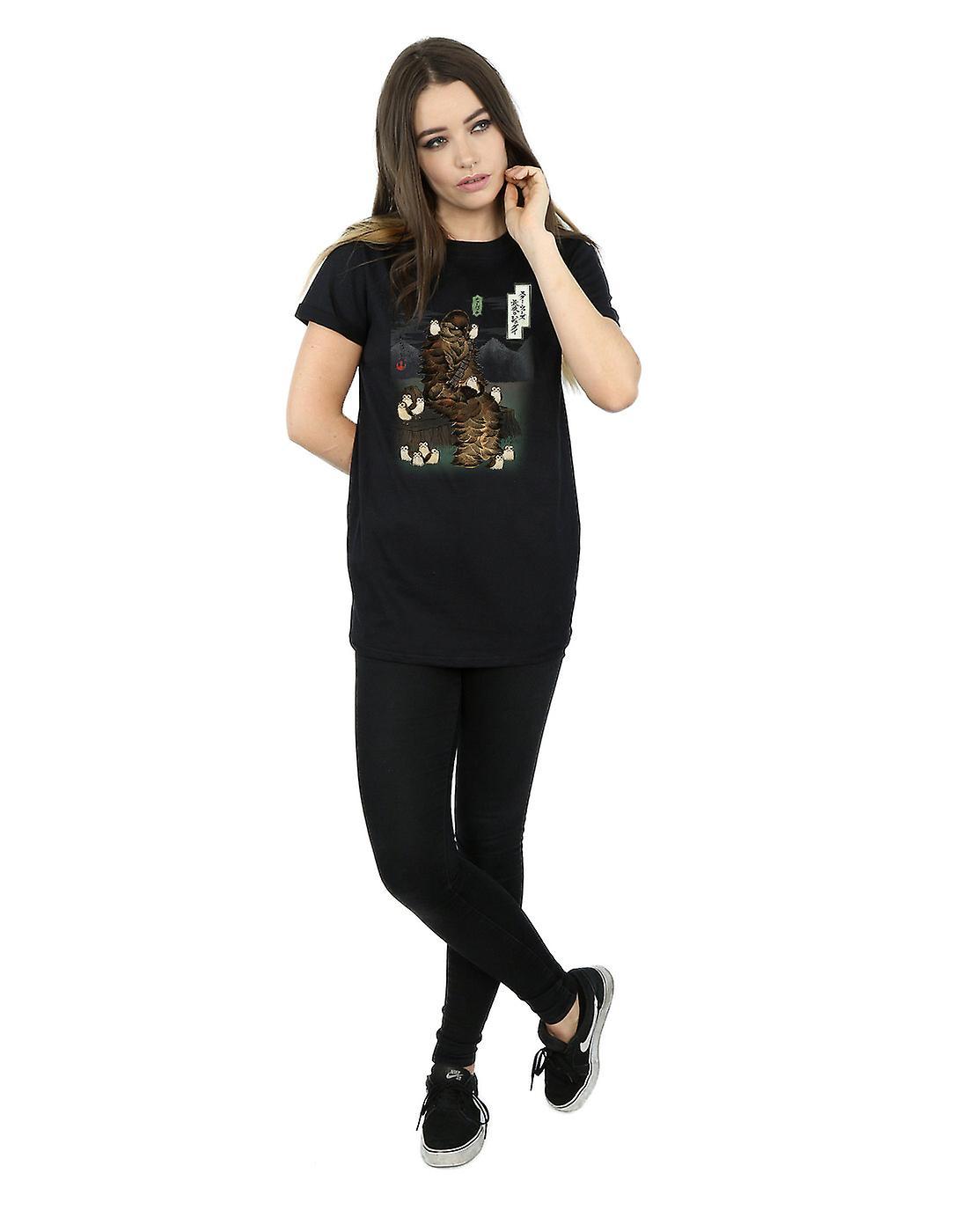 Star Wars kvinder den sidste Jedi japanske Chewbacca Porgs kæreste Fit T Shirt