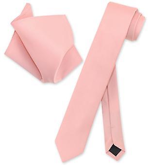 """Vesuvio Napoli Skinny 2,5"""" slips lommetørklæde Herre hals Tie sæt"""