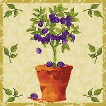 Plum Tree Needlepoint Canvas