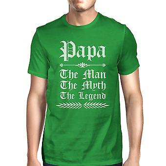 Vintage Gothic Papa miesten vihreä ihana hauska Design t-paita Papa