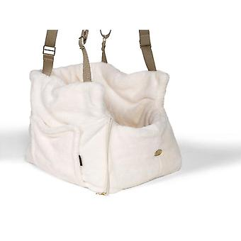 Teddy Bear Office and travel Ivory Dog Carrier