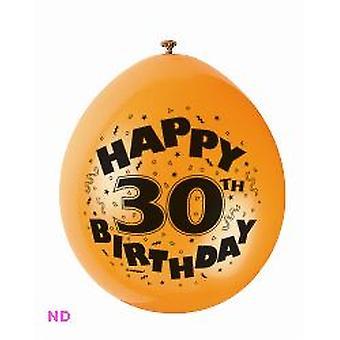 "Ballonnen gelukkig 30e verjaardag 9"" Latex ballonnen (10)"