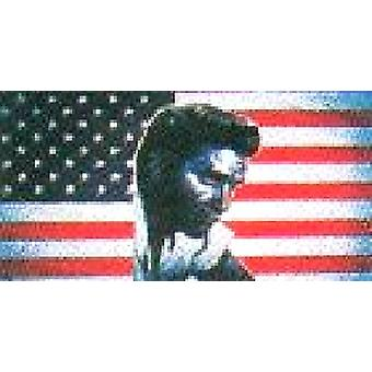 USA American 'Elvis' Flag 5ft x 3ft (100% Polyester) With Eyelets