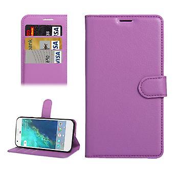 Bookcover Pocket wallet design for Google pixel 5.0 cover case purple
