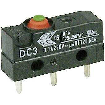ZF microswitch DC3C-H1AA 250 V AC 0,1 A 1 x on/(on) IP67 momentan 1 pc (e)