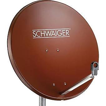 Schwaiger SPI998.2 SAT antenna 75 cm Reflective material: Aluminium Brick red