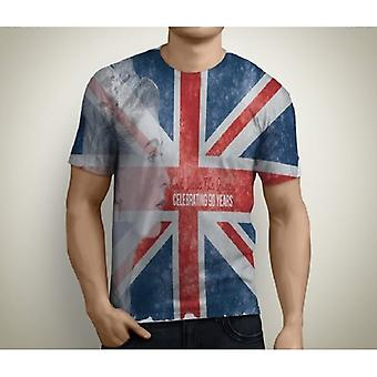 "Union Jack bär Union Jack ""God Save The Queen"" T Shirt - mens"