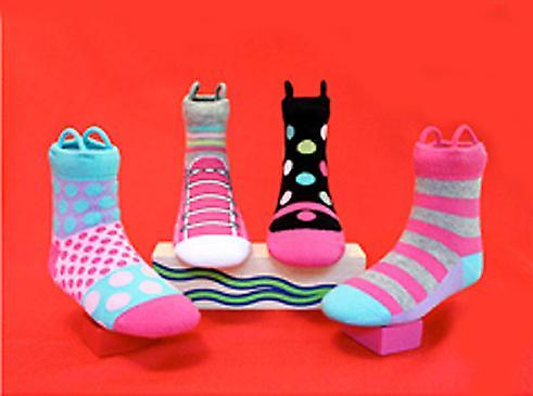 Mädchen Mary Jane & Sneakers EZ SOX Socken - 2 Paar, 2 - 3 Jahre