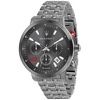 Maserati Mens GT 44mm | Grey Dial | Grey Stainless Steel Bracelet R8873134001 Watch