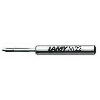Lamy M 22 breed compacte balpen Refill - zwart