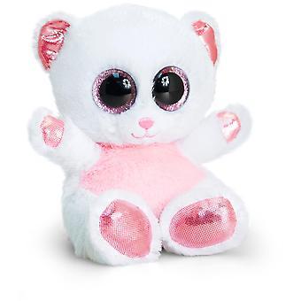 Keel Toys Animotsu Pink and White Bear