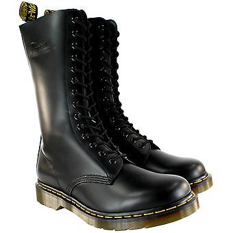 Womens Dr Martens 1914 mi mollet Lace Up noir cuir botte militaire
