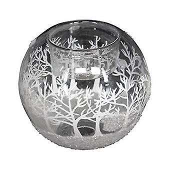 Heaven Sends Winter Scene Glass Candle Holder