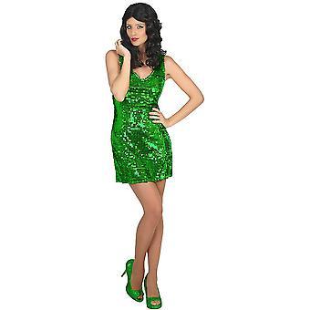 Vrouwen kostuums Green Glitter jurk