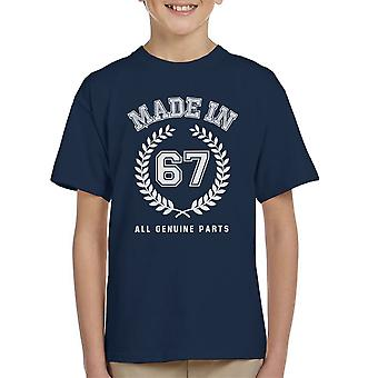 Made In 67 All Genuine Parts Kid's T-Shirt