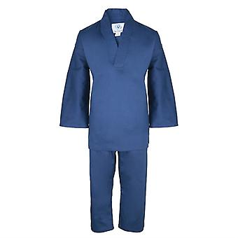 Bytomic Kids blau mit V-Ausschnitt-Martial-Arts-Uniform