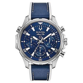 Bulova Marine Strap Leather Chronograph 96B287 Watch