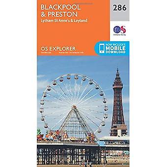 OS Explorer Map (286) Blackpool und Preston