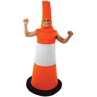 Orion Costumes Mens Orange Traffic Road Cone Novelty Stag Night Fancy Dress