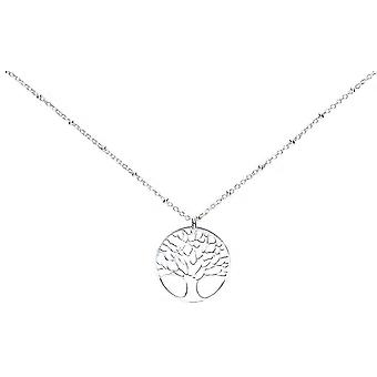 Bella Pressed Filigree Tree of Life Pendant - Silver