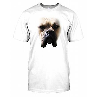 Amerikanische Dogge Pedigree Hund Gesicht Herren T Shirt