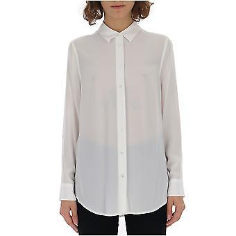 Equipment Q23e900brightwht Women's White Cotton Shirt