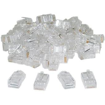 100 x RJ45 Stecker CAT 5e 8P8C Netowk Crimp Steckerenden