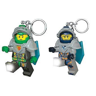 Lego Nexo Knights (clay+aaron) Keyring Light Bundle