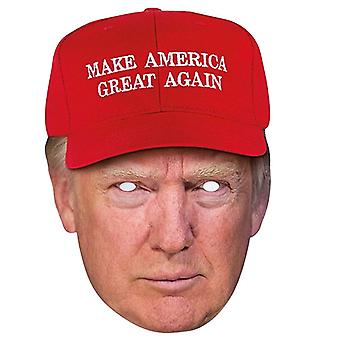 Donald Trump Make America Great Again Hat Single 2D Card Party Fancy Dress Mask