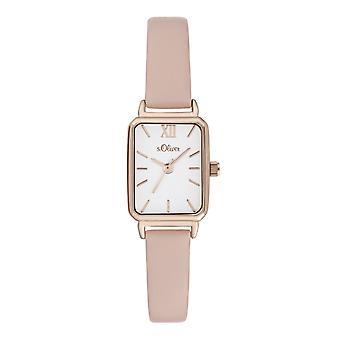 s.Oliver Damen Uhr Armbanduhr Leder SO-3820-LQ