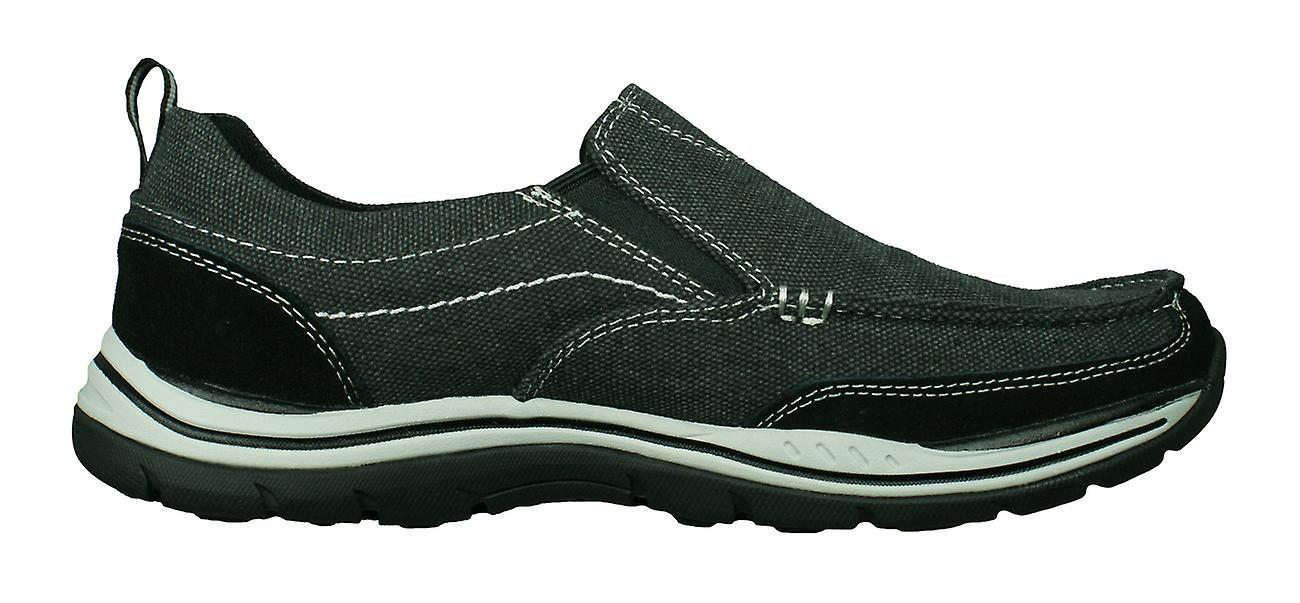 Skechers Expected Tomen Relaxed Fit Mens Slip On Shoes / Loafers - Noir
