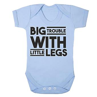 Big trouble with little legs babygrow