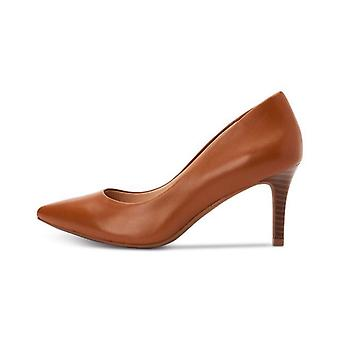 Alfani Womens Jeules Leather Pointed Toe Classic Pumps