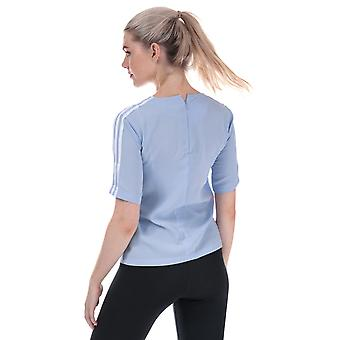 Womens adidas Originals 3-Stripes T-Shirt In Periwinkle