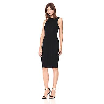 GUESS Women's Sleeveless Gemma Stitch Mix Sweater Dress, Jet Black a, Small