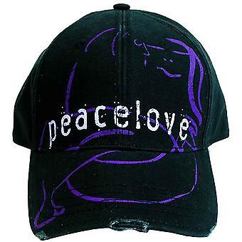 John Lennon Baseball Cap Peace & Love Vintage frangé noir officiel nouveau