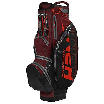 Sun Mountain H2NO Lite Cart Trolley Golf Bag Black/Garnet/Inferno
