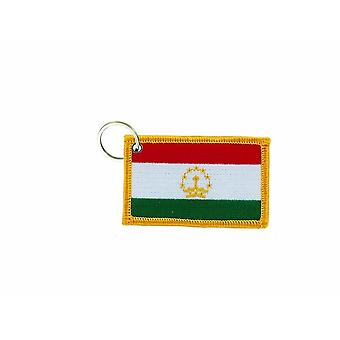 Cle Cles Chiave Brode Patch Ecusson Badge Tagikistan Bandiera