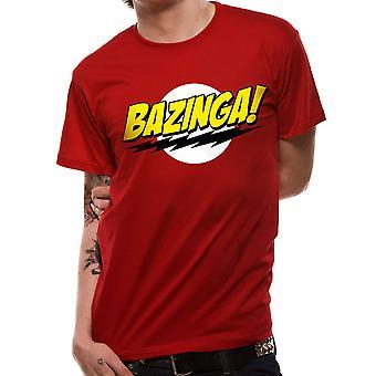 Miesten Big Bang Theory bazinga logo T-paita